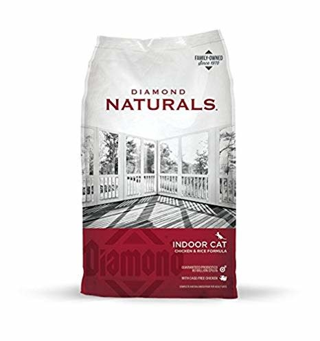 DIAMOND PET FOODS Diamond Naturals Indoor Chicken and Rice Cat Dry 18lbs Product Image