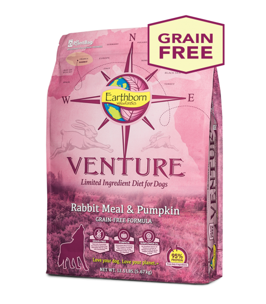 Earthborn Holistic Earthborn Venture Limited Ingredient Diet Rabbit Meal & Pumpkin 12.5lbs Product Image