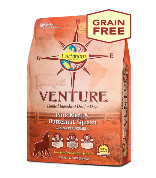 Earthborn Holistic Earthborn Venture Limited Ingredient Diet Pork Meal & Butternut Squash 25lbs Product Image