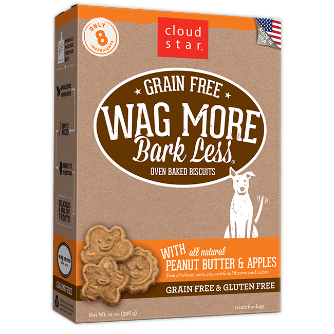Cloud Star Wag More Bark Less Grain Free Baked Peanut Butter & Apple 14oz Product Image