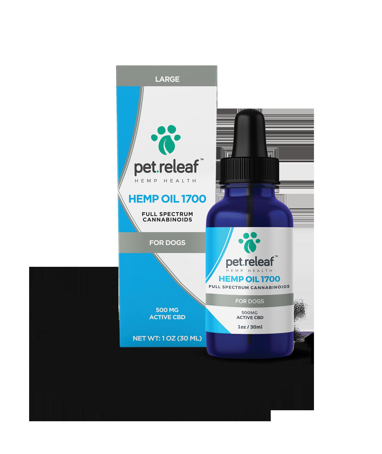 Pet Releaf Pet Releaf Hemp Oil 1700/CBD 500mg 1oz Product Image