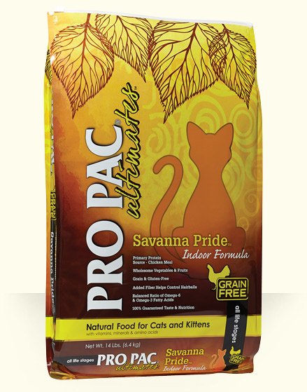 Pro Pac Pro Pac Ultimates Savanna Pride Indoor Formula Cat Food 14lbs Product Image