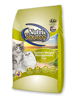 Nutrisource NutriSource Senior and Weight Management Cat Food 6.6lbs Product Image