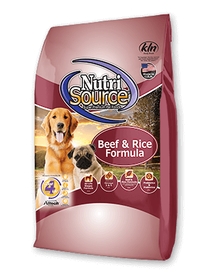 Nutrisource NutriSource  Beef and Rice Formula Dog Dry 15lbs Product Image