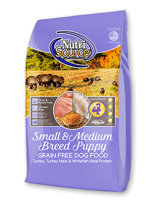 Nutrisource NutriSource Grain Free Small and Medium Breed Puppy Dog Dry 15lbs Product Image