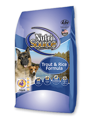 Nutrisource NutriSource Trout and Rice Formula Dog Dry 5lbs Product Image