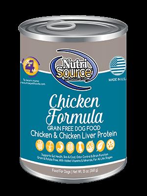 Nutrisource NutriSource Chicken Formula Dog Can 13oz Product Image