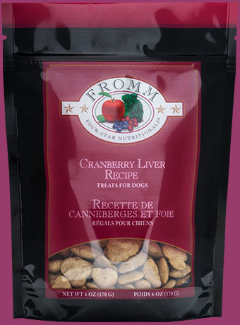 Fromm Fromm 4 Star Cranberry Liver Dog Treat 6oz Product Image