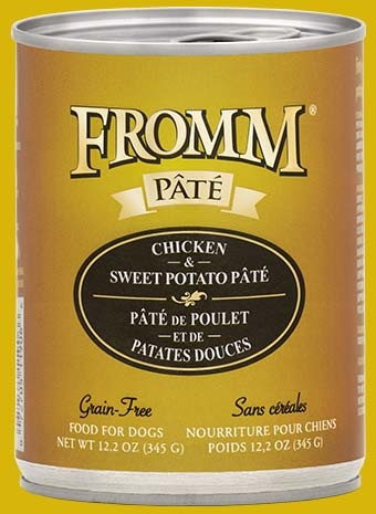 Fromm Fromm Grain Free Chicken & Sweet Potato Pate' Dog Can 12.2 oz Product Image