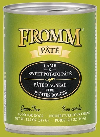 Fromm Fromm Grain Free Lamb & Sweet Potato Pate' Dog Can 12.2oz Product Image