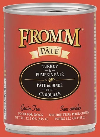 Fromm Fromm Grain Free Turkey & Pumpkin Pate' Dog Can 12.2 oz Product Image