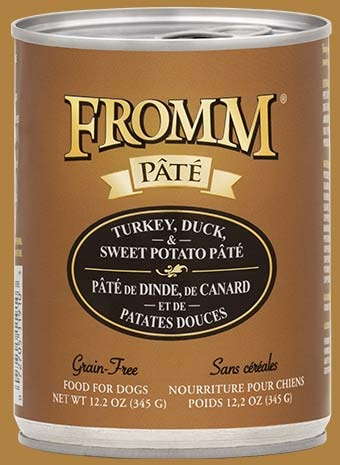 Fromm Fromm Grain Free Turkey, Duck, & Sweet Potato Pate' Dog Can 12.2oz Product Image