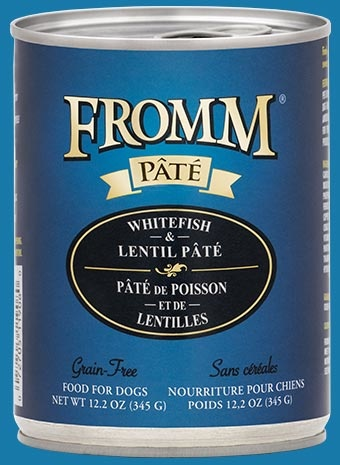 Fromm Fromm Grain Free Whitefish & Lentil Pate' Dog Can 12.2 oz Product Image