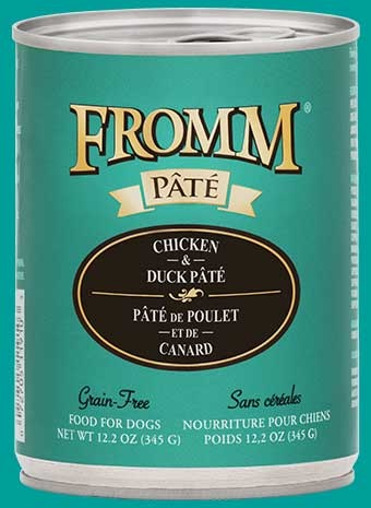 Fromm Fromm Grain Free Chicken & Duck Pate' Dog Can 12.2oz Product Image