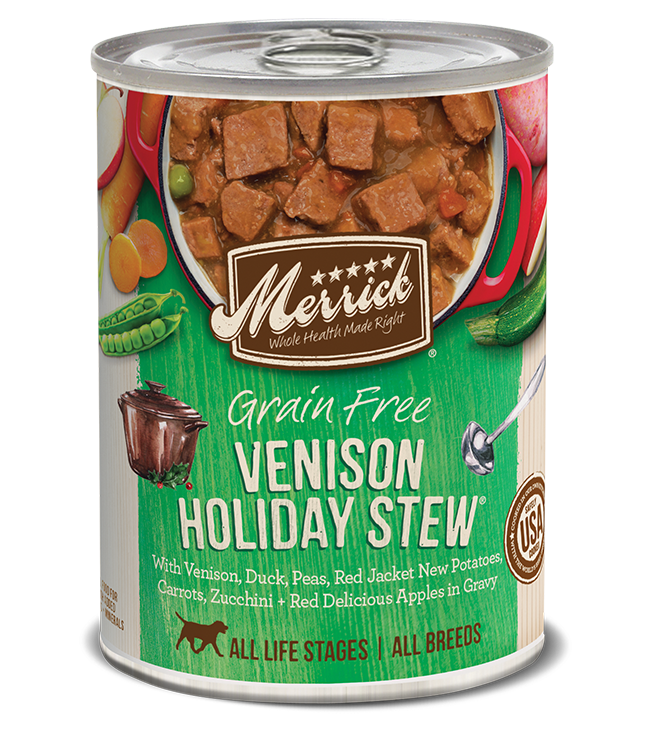 Merrick Merrick Grain Free Venison Holiday Stew Dog Can 12.7oz Product Image