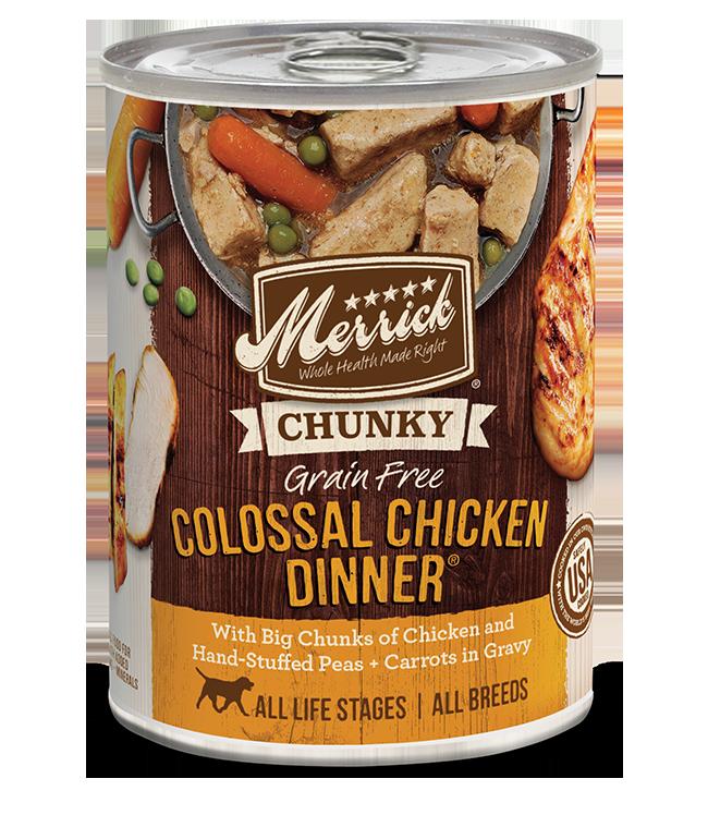 Merrick Pet Foods Merrick Grain Free Colossal Chicken Dinner Dog Can 12.7oz Product Image