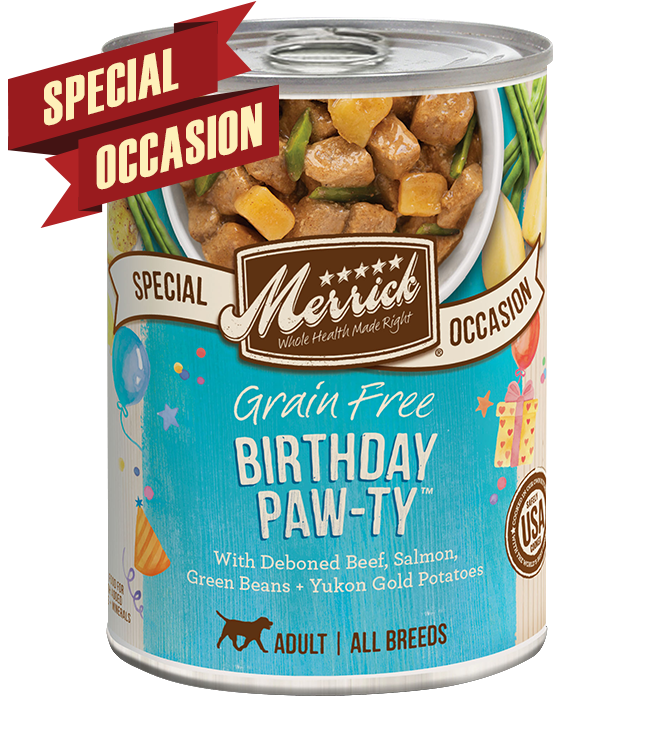 Merrick Pet Foods Merrick Grain Free Birthday Paw-ty Dog Can 12.7oz Product Image