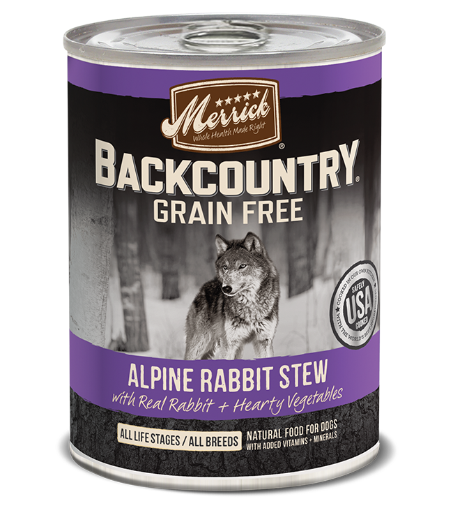 Merrick Merrick Backcountry Alpine Rabbit Stew Dog Can 12.7oz Product Image