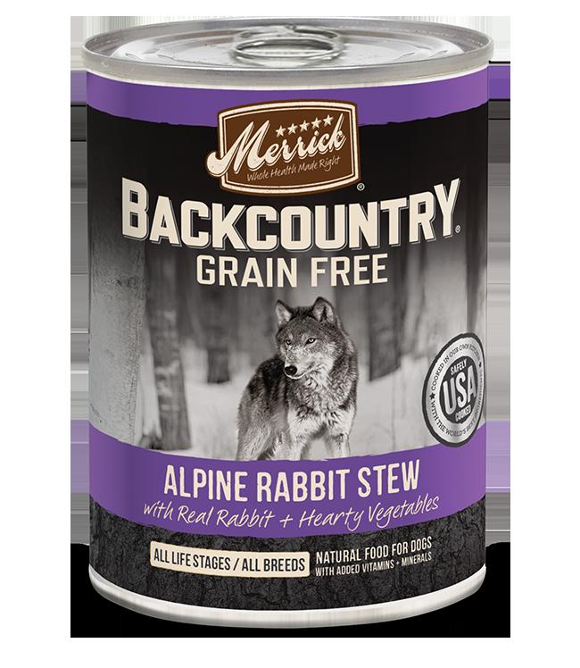Merrick Pet Foods Merrick Backcountry Alpine Rabbit Stew Dog Can 12.7oz Product Image