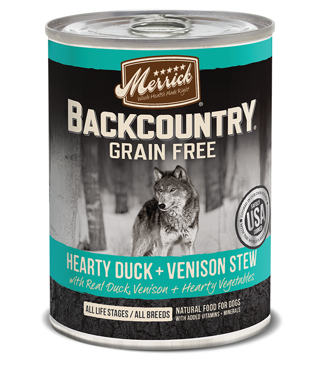 Merrick Pet Foods Merrick Backcountry Hearty Duck and Venison Stew Dog Can 12.7oz Product Image