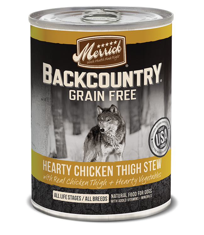 Merrick Pet Foods Merrick Backcountry Hearty Chicken Thigh Stew Dog Can 12.7oz Product Image