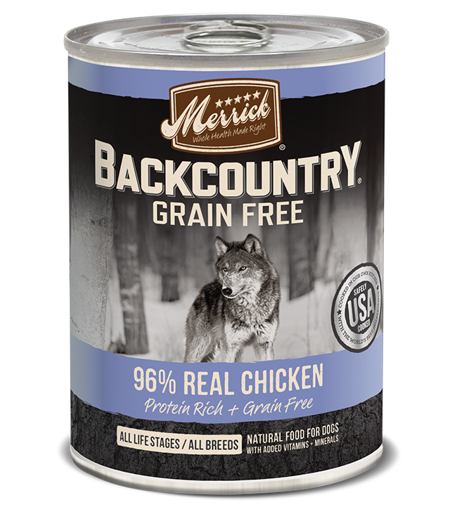 Merrick Merrick Backcountry 96% Chicken Dog Can 12.7oz Product Image