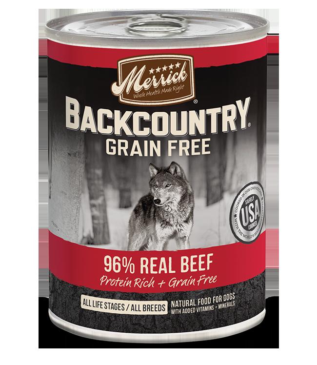 Merrick Pet Foods Merrick Backcountry 96% Beef Dog Can 12.7oz Product Image