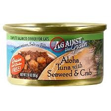 Evanger's Against the Grain Cat Can Aloha Tuna with Seaweed & Crab 2.8oz Product Image