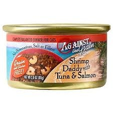 Evanger's Against the Grain Cat Can Shrimp Daddy with Tuna & Salmon 2.8oz Product Image