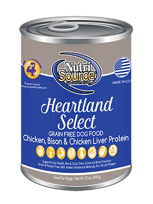 Nutrisource NutriSource Heartland Select Dog Can 13oz Product Image