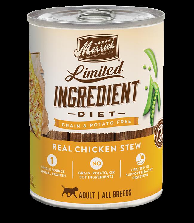 Merrick Pet Foods Merrick Limited Ingredient Diet Chicken Recipe Dog Can 12.7oz Product Image