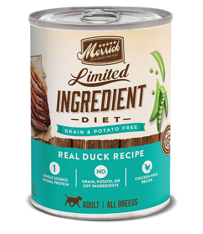 Merrick Pet Foods Merrick Limited Ingredient Diet Duck Recipe Dog Can 12.7oz Product Image