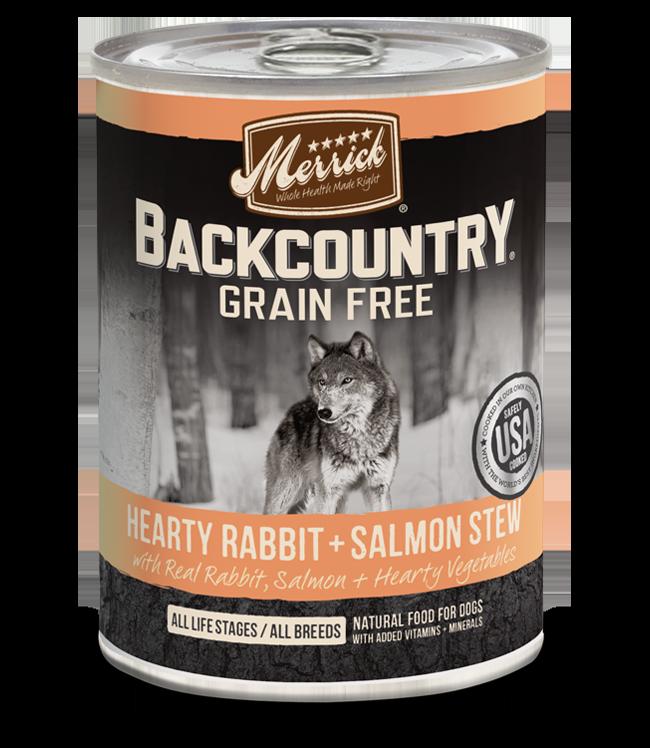 Merrick Merrick Backcountry Rabbit & Salmon Stew Dog Can 12.7oz Product Image