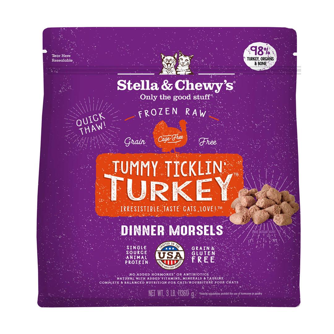 Stella & Chewy's Stella & Chewy's Cat Frozen Raw Tummy Ticklin' Turkey Dinner Morsels 3lb Product Image