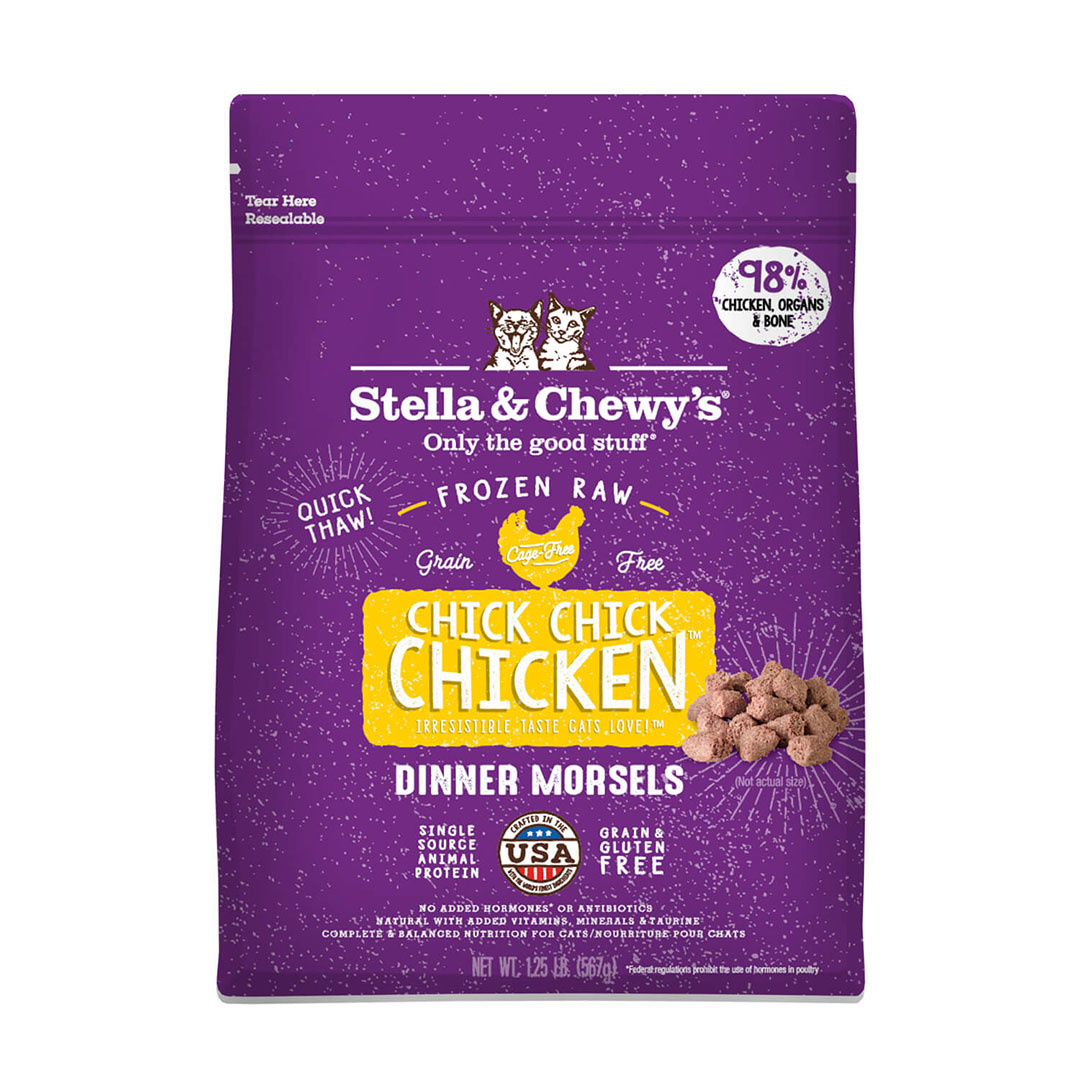 Stella & Chewy's Stella & Chewy's Cat Frozen Raw Chick Chick Chicken Dinner Morsels 1.25lb Product Image