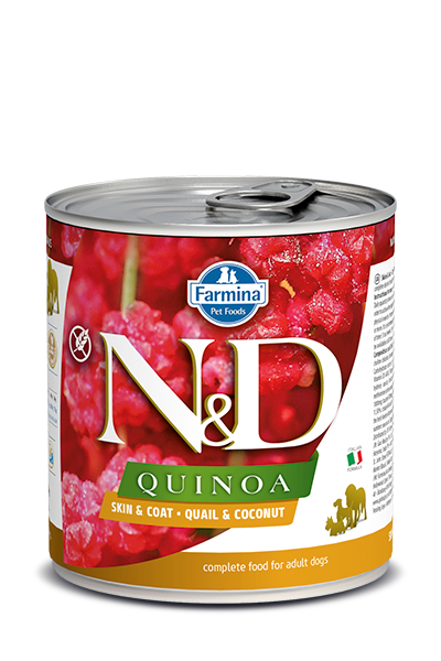 Farmina Farmina N&D Quinoa skin and Coat Quail and Coconut Dog Can 10.05oz Product Image