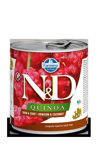 Farmina Farmina N&D Quinoa Skin and Coat Venison and Coconut Dog Can  10.05oz Product Image