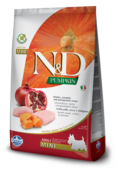 Farmina Farmina N&D Pumpkin Mini Chicken and Pomegranate Dog Dry 15.4lbs Product Image