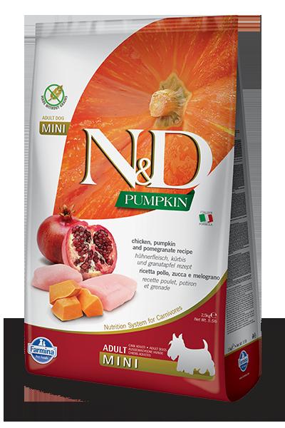 Farmina Farmina N&D Pumpkin Mini Chicken and Pomegranate Dog Dry 5.5lbs Product Image