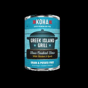 Koha Koha Dog Can Grain Free Greek Island Grill Chicken Lamb 12.7 oz Product Image
