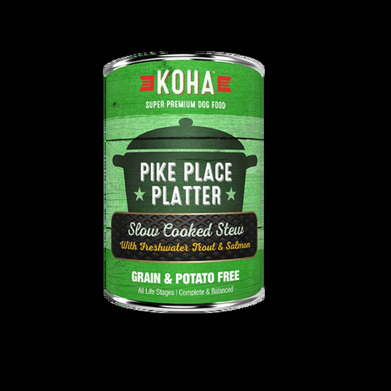 Koha Koha Dog Can Grain Free Pike Place Platter Trout Salmon 12.7 oz Product Image