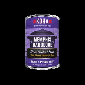Koha Koha Dog Can Grain Free Memphis BBQ Chicken Pork 12.7 oz Product Image