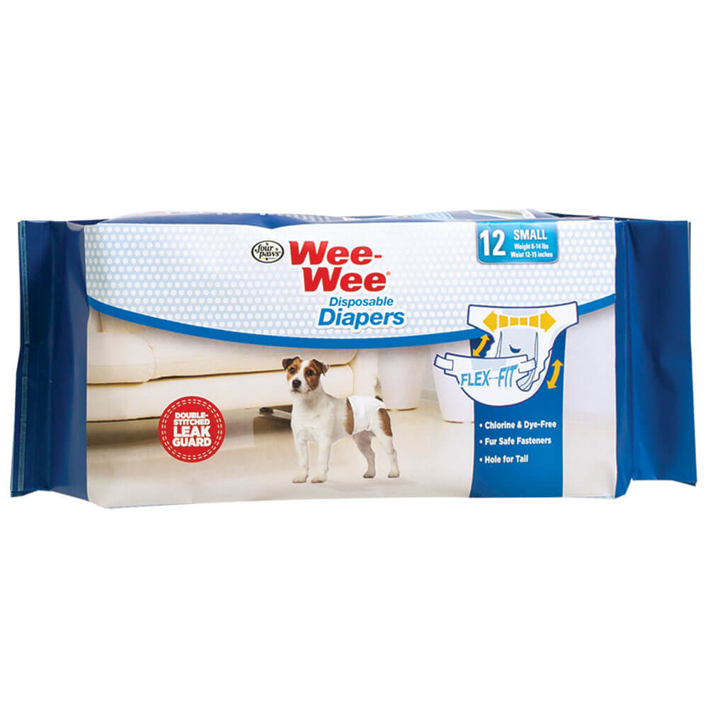 Four Paws Wee-Wee Disposable Diapers Small 12 pack Product Image