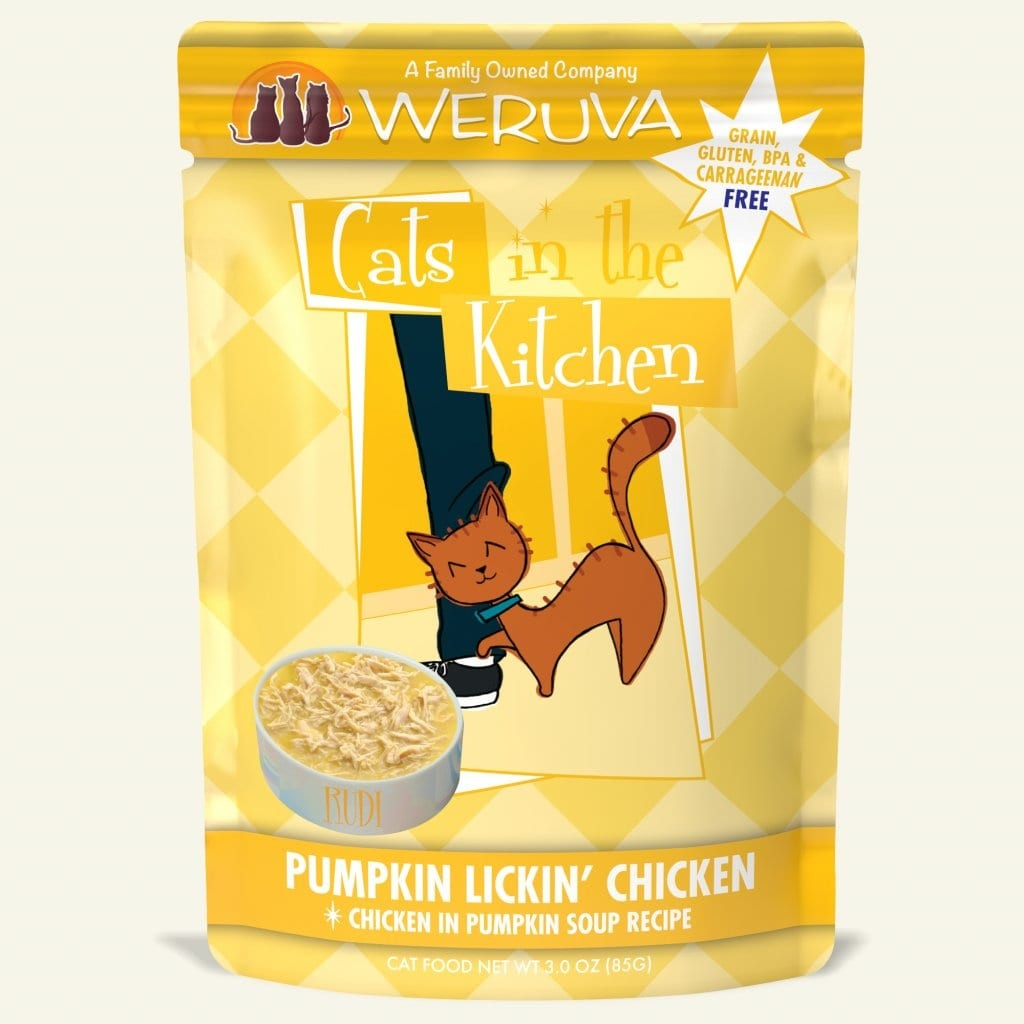 Weruva Weruva Cats in the Kitchen Pouch Grain Free Pumpkin Lickin' Chicken 3 oz Product Image
