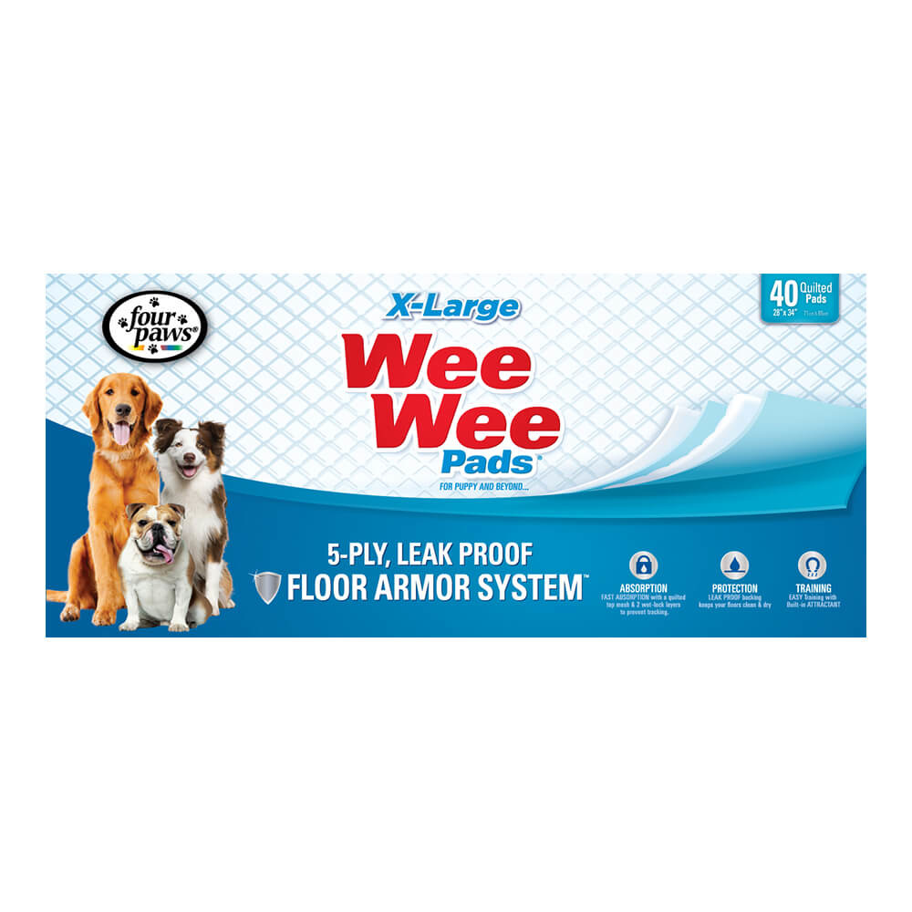 Four Paws Wee-Wee Pads X-Large 40 Count Product Image
