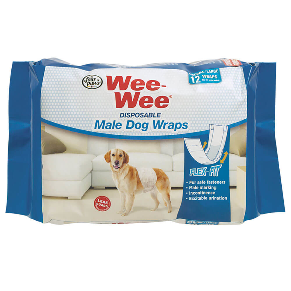 Four Paws Wee-Wee Disposable Male Wrap Medium/Large Product Image