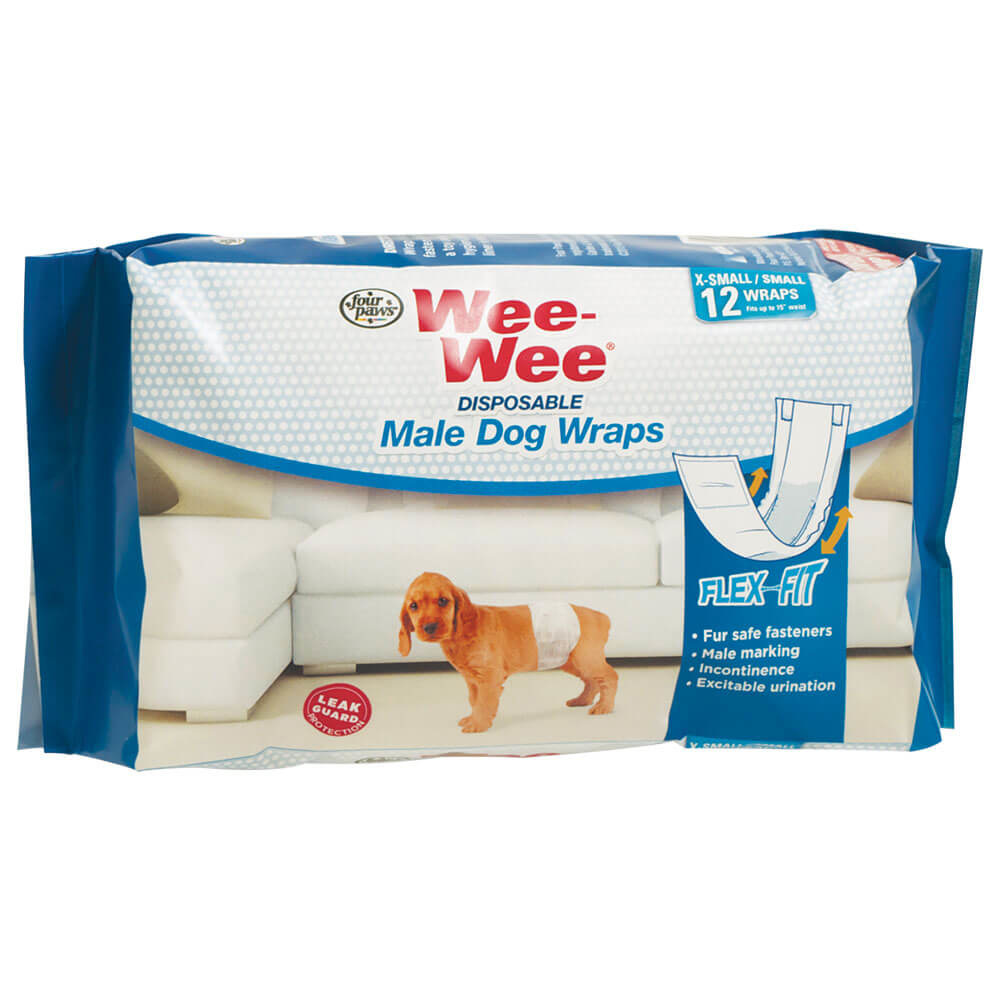 Four Paws Wee-Wee Disposable Male Wrap X-Small/Small Product Image