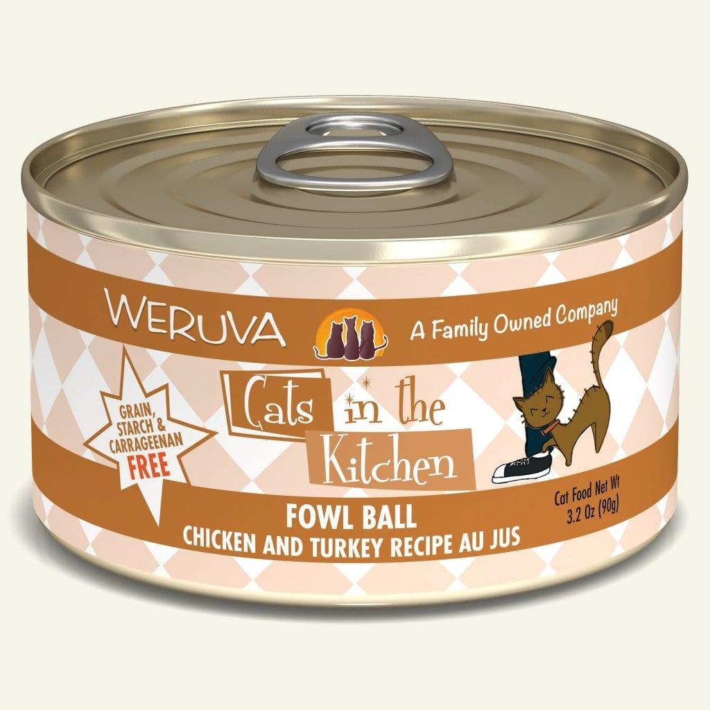 Weruva Weruva Cats in the Kitchen Cat Can Grain Free Fowl Ball 3oz Product Image