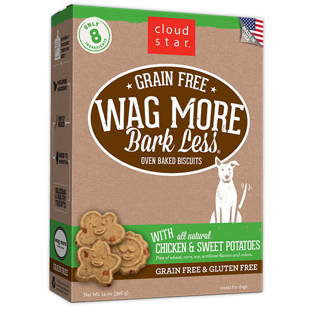 Cloud Star Wag More Bark Less Grain Free Baked Chicken & Sweet Potato 14oz Product Image