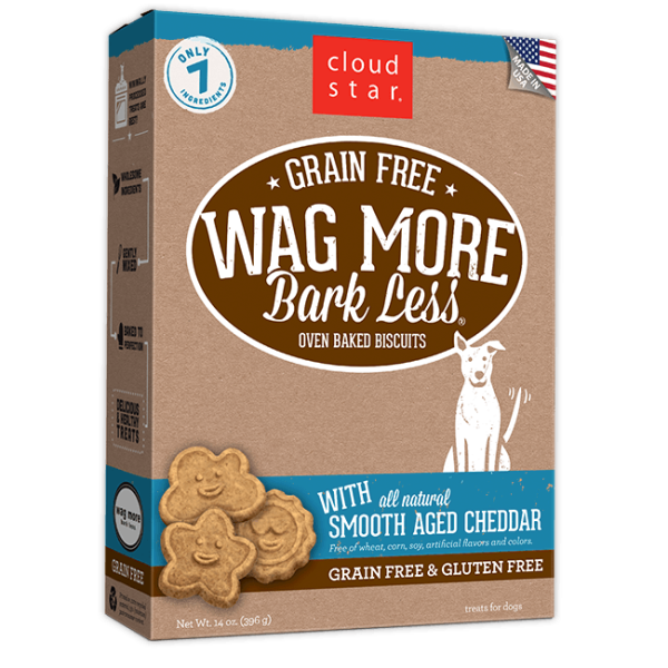 Cloud Star Wag More Bark Less Grain Free Baked Aged Cheddar 14oz Product Image